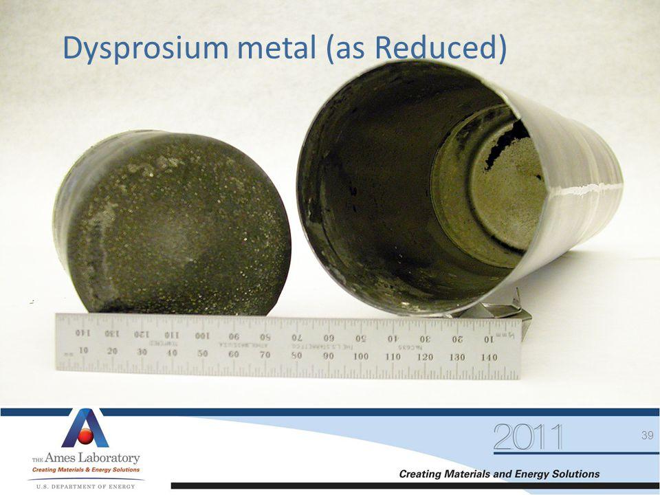 Dysprosium metal (as Reduced)
