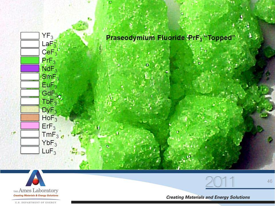 High Purity Fluorides YF3 Praseodymium Fluoride PrF3 Topped LaF3