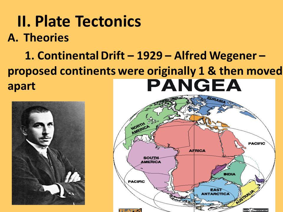 II. Plate Tectonics Theories