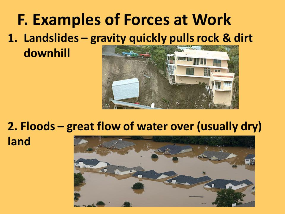 F. Examples of Forces at Work