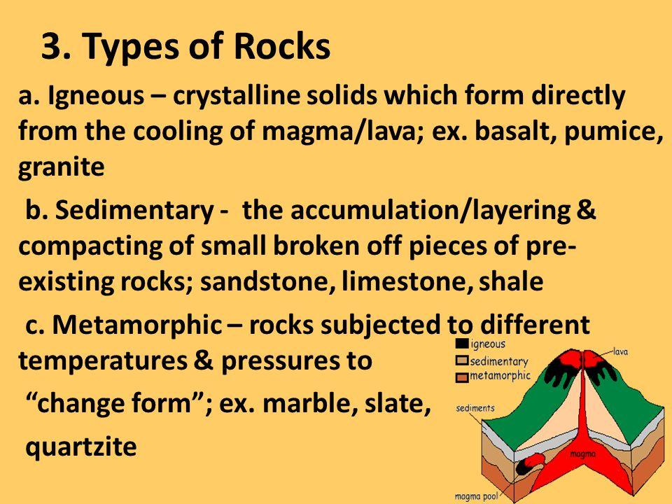 3. Types of Rocks