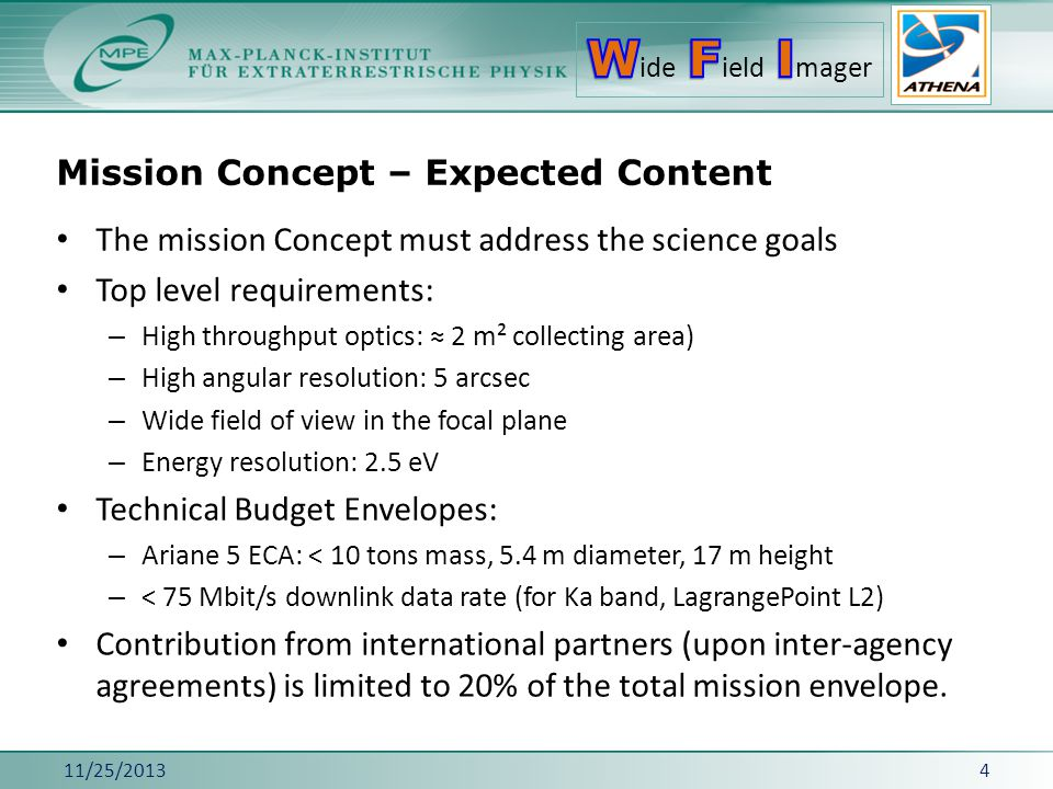 Mission Concept – Expected Content