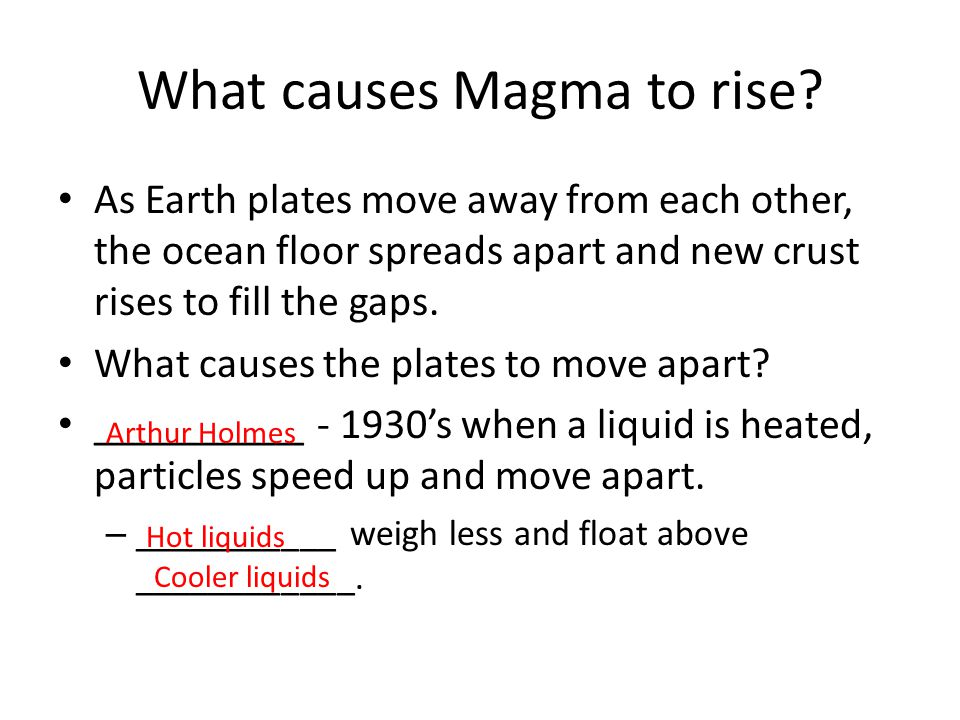 What causes Magma to rise