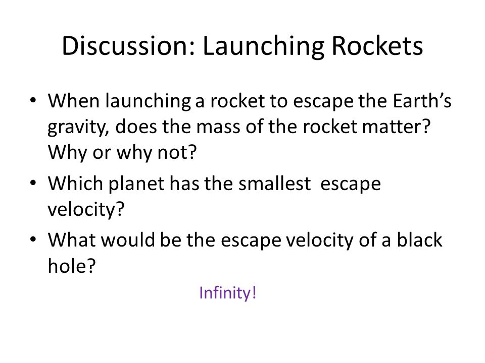 Discussion: Launching Rockets