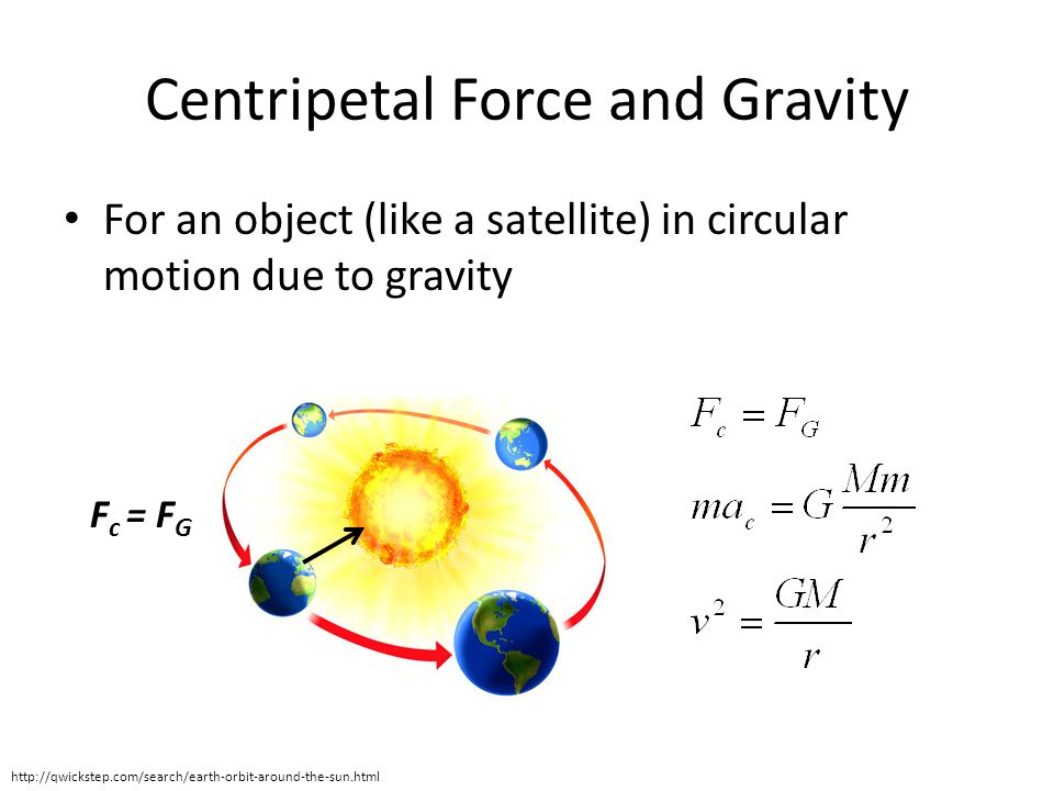 Centripetal Force and Gravity