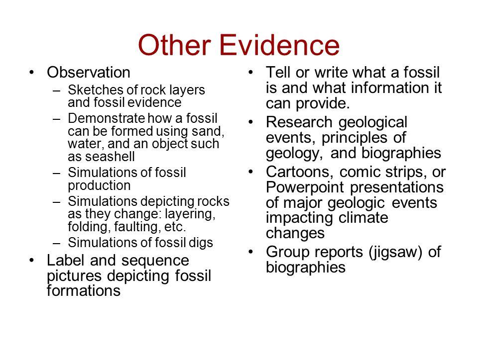 Other Evidence Observation