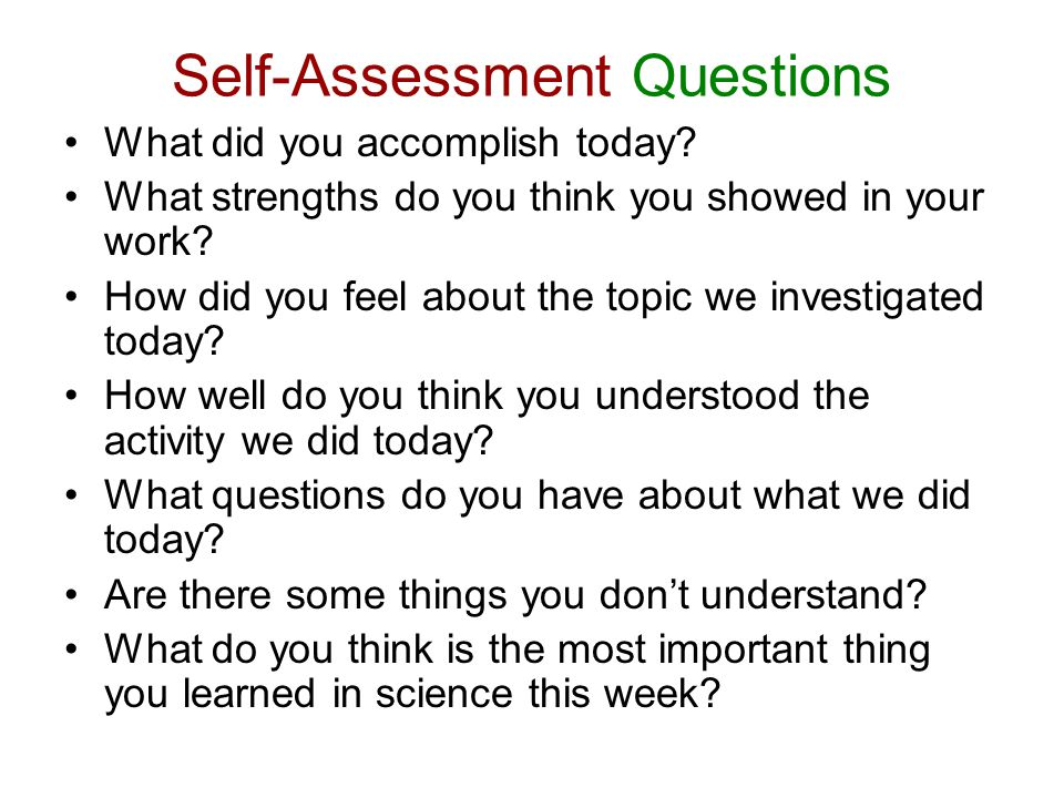 Self-Assessment Questions