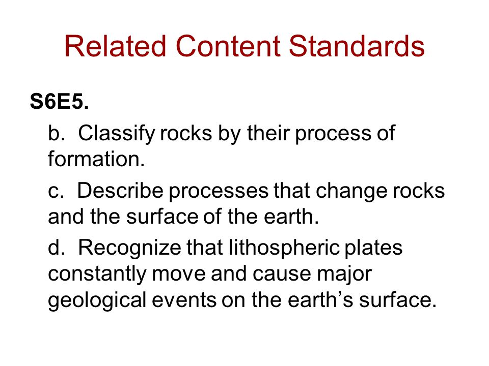 Related Content Standards
