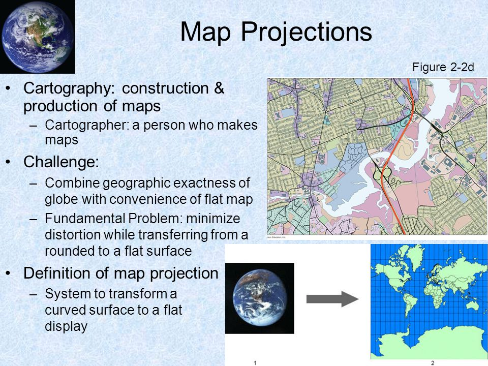 Map Projections Cartography: construction & production of maps