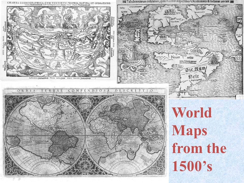 World Maps from the 1500's