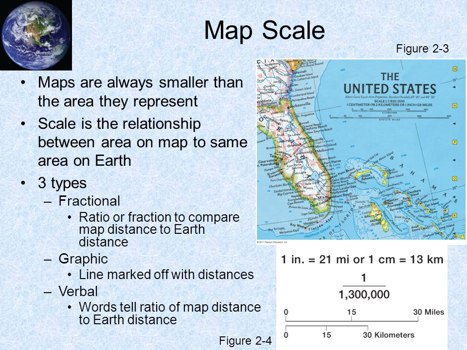 Map Scale Maps are always smaller than the area they represent