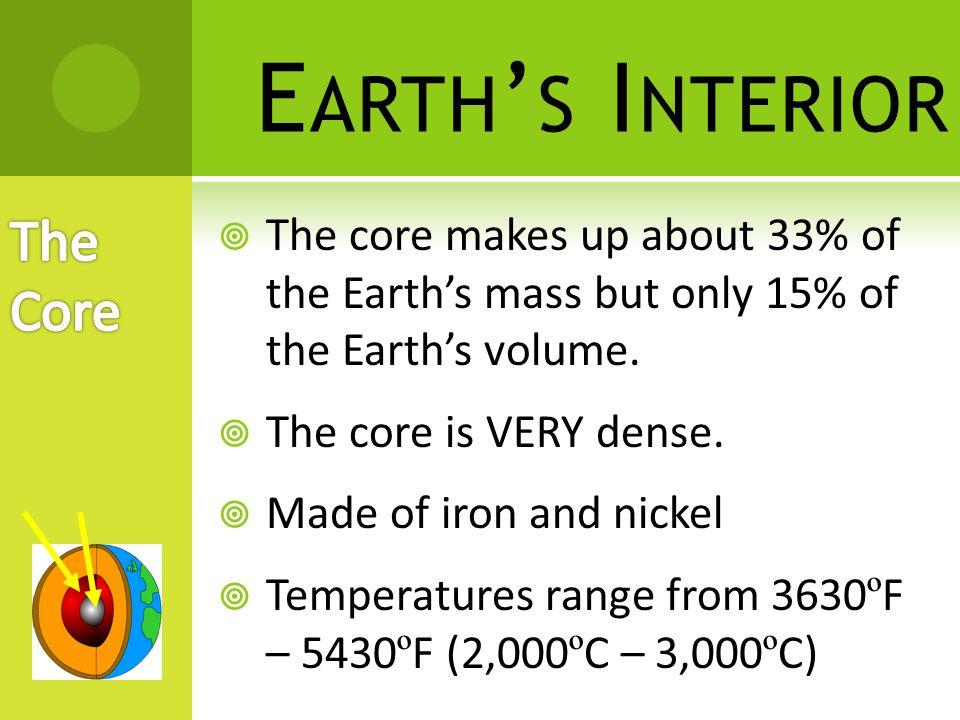 Earth's Interior The Core