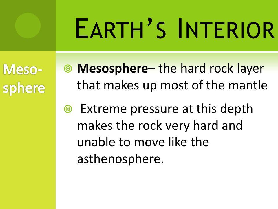Earth's Interior Meso-sphere