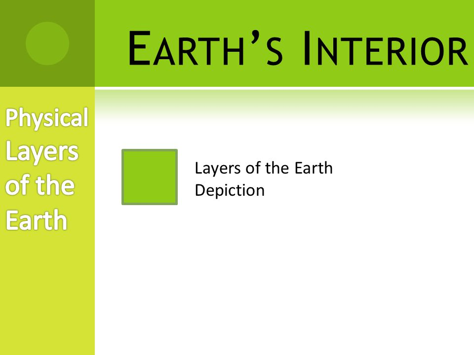 Earth's Interior Physical Layers of the Earth
