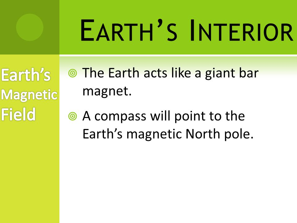 Earth's Interior Earth's Magnetic Field