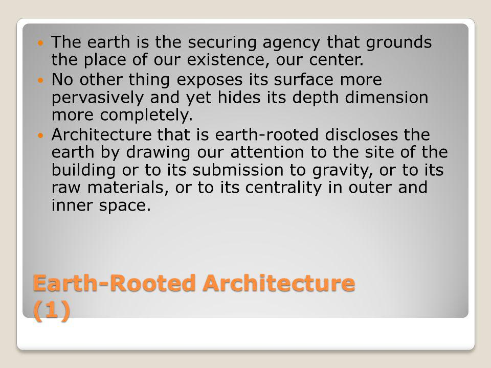 Earth-Rooted Architecture (1)