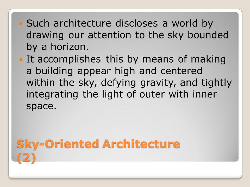Sky-Oriented Architecture (2)