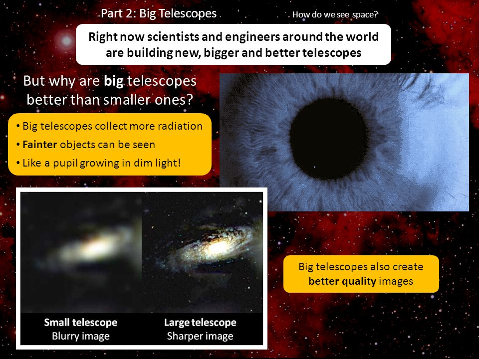 But why are big telescopes better than smaller ones
