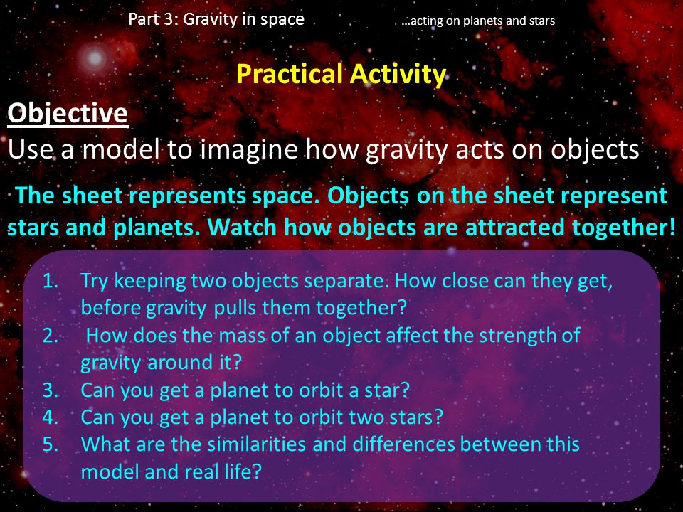 Part 3: Gravity in space …acting on planets and stars