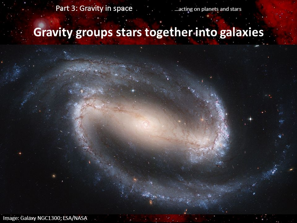 Gravity groups stars together into galaxies