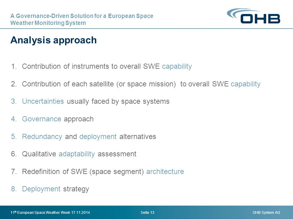 A Governance-Driven Solution for a European Space Weather ‎Monitoring System