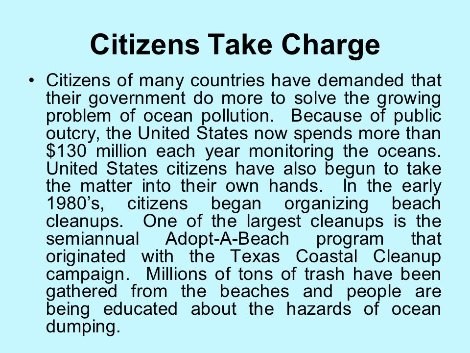 Citizens Take Charge