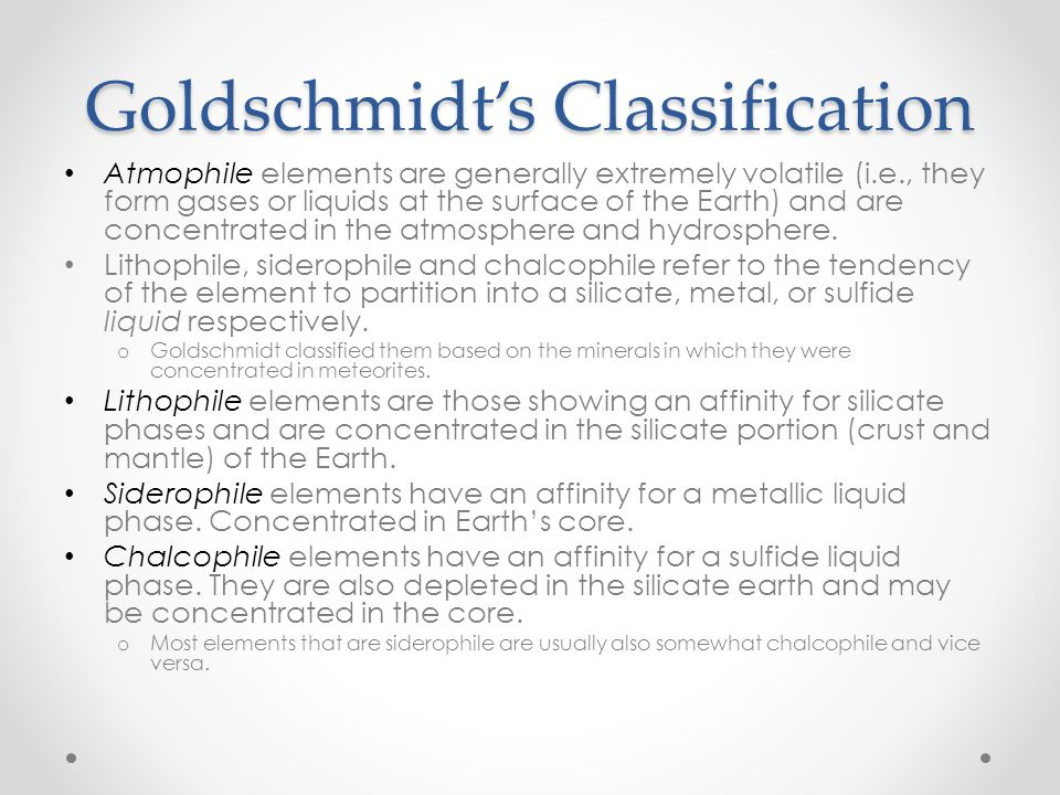 Goldschmidt's Classification