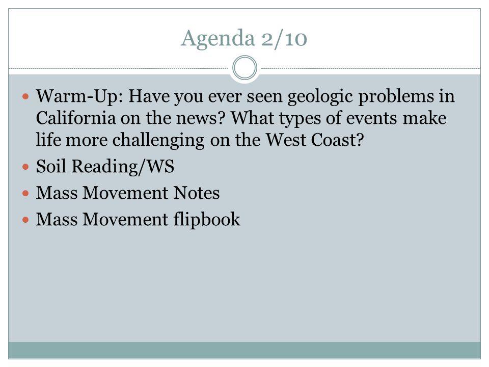 Agenda 2/10