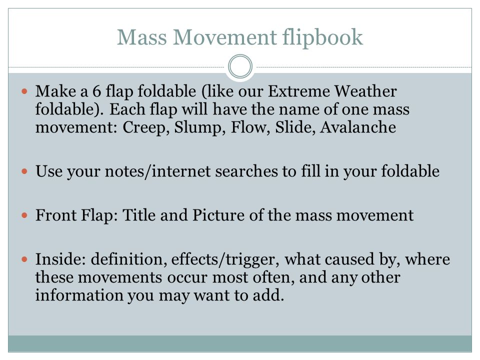 Mass Movement flipbook