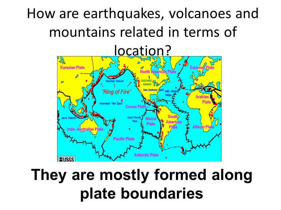 They are mostly formed along plate boundaries