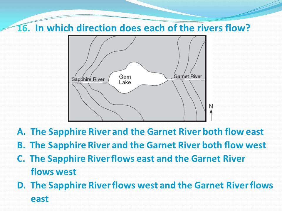 In which direction does each of the rivers flow