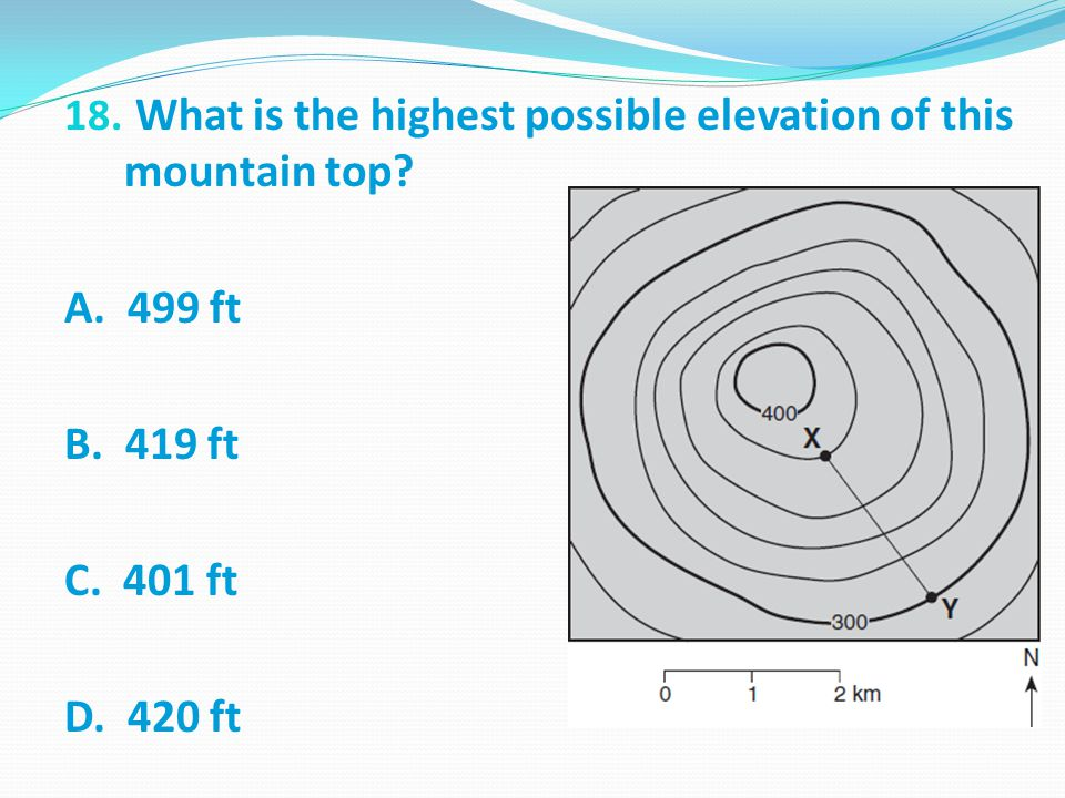 What is the highest possible elevation of this mountain top