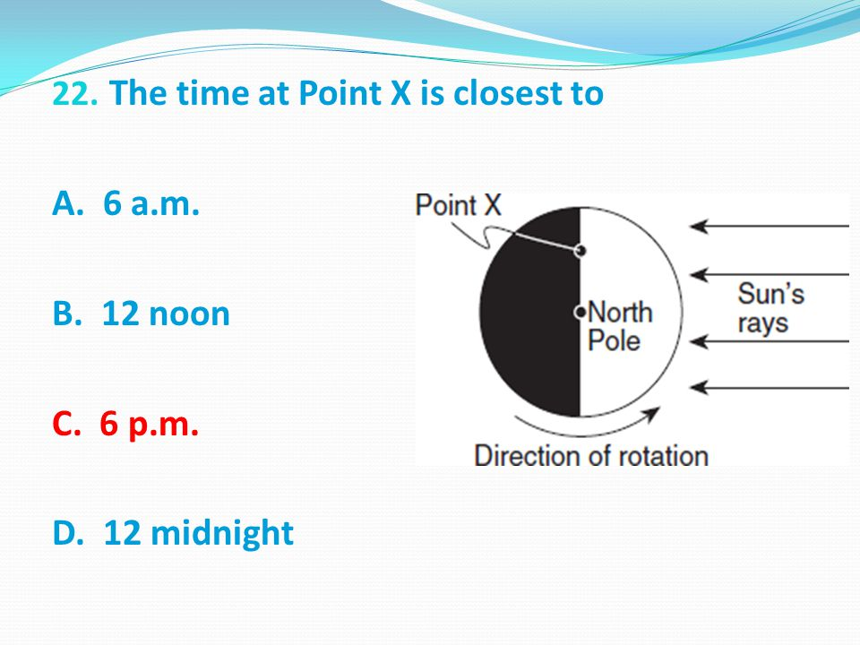 The time at Point X is closest to