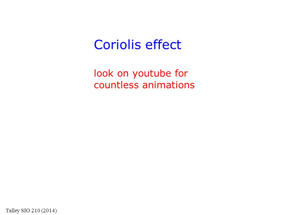 Coriolis effect look on youtube for countless animations