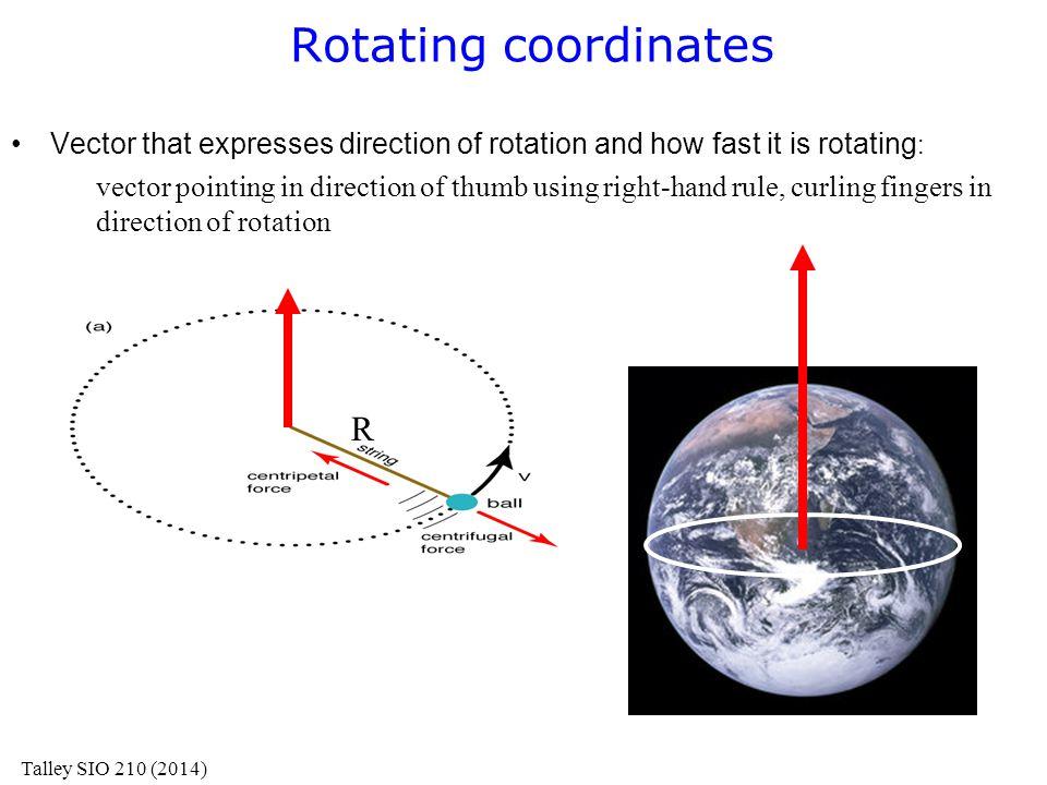 Rotating coordinates R