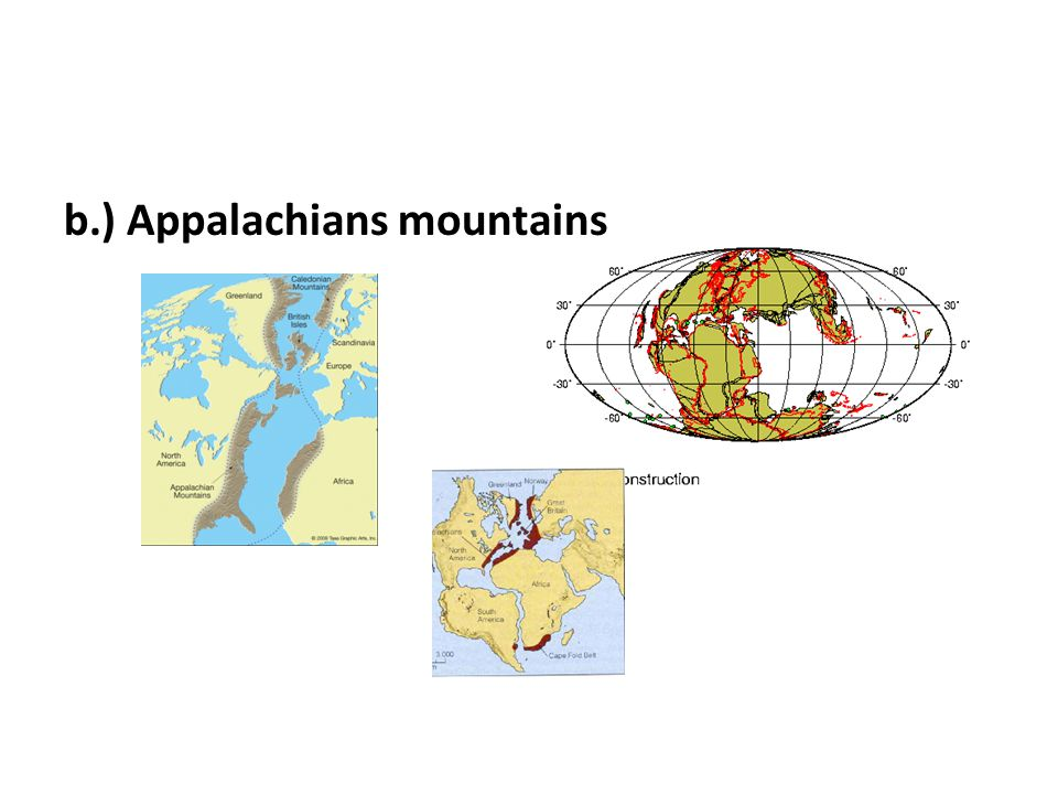 b.) Appalachians mountains