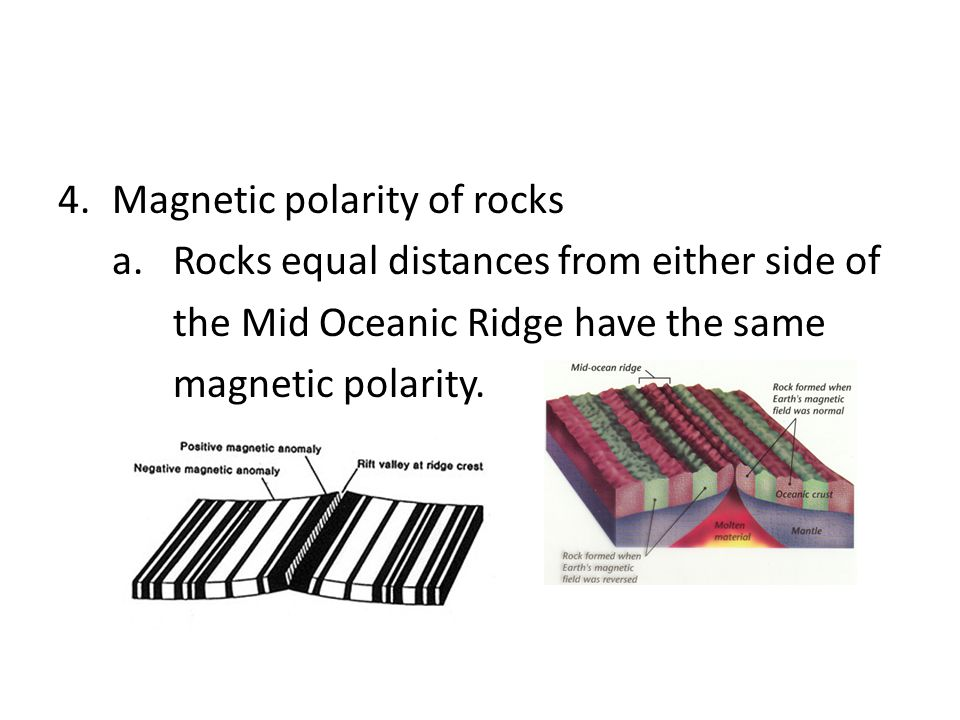 Magnetic polarity of rocks