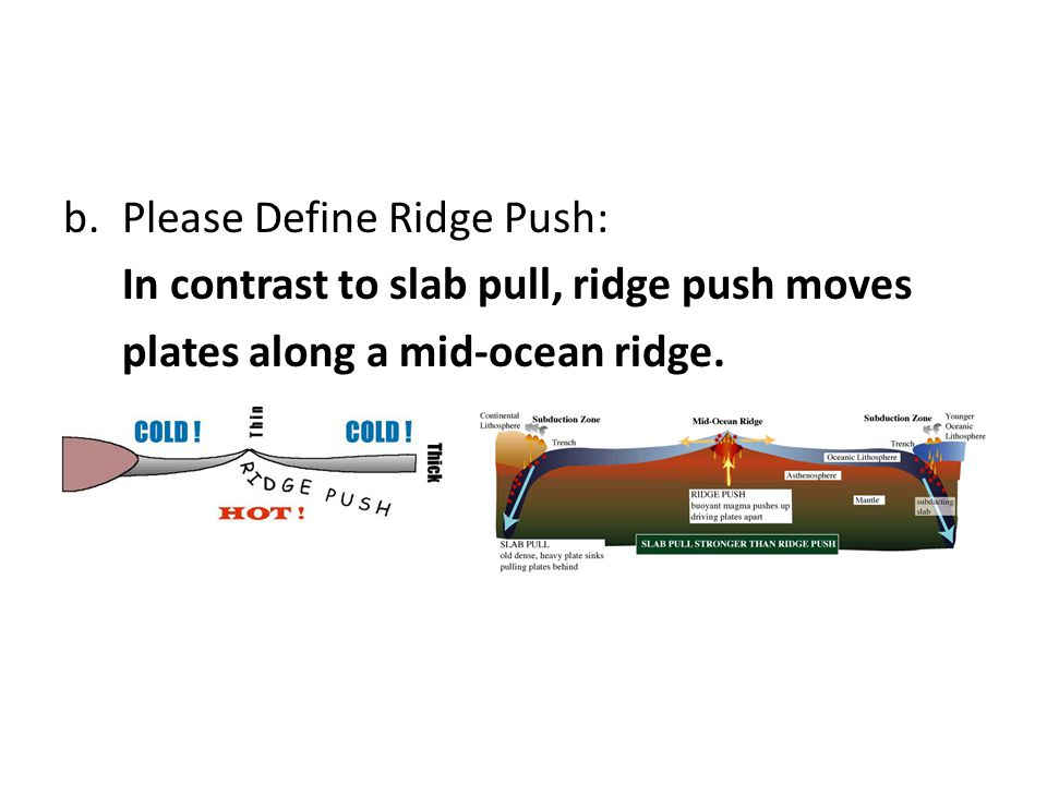 Please Define Ridge Push:
