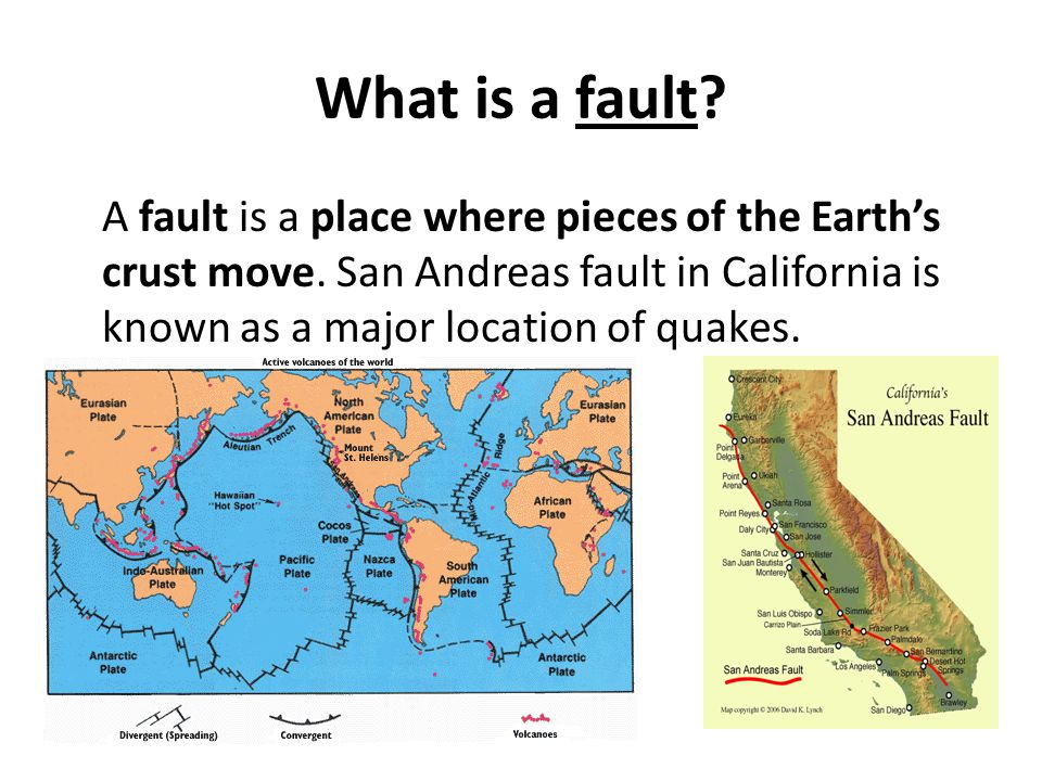 What is a fault. A fault is a place where pieces of the Earth's crust move.