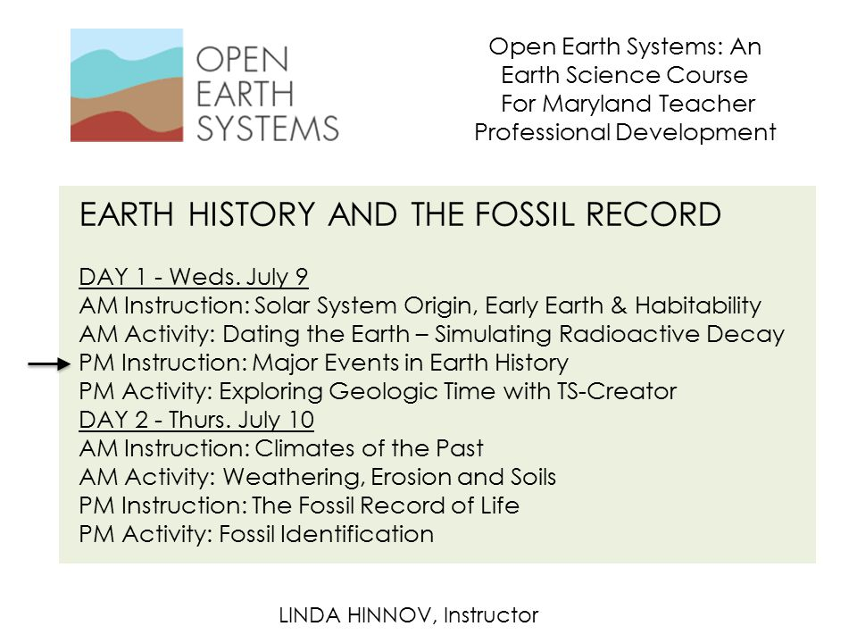 EARTH HISTORY AND THE FOSSIL RECORD