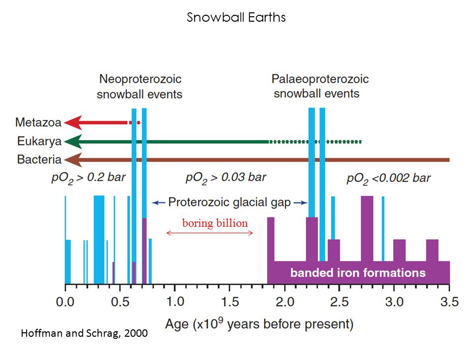 Snowball Earths boring billion Hoffman and Schrag, 2000