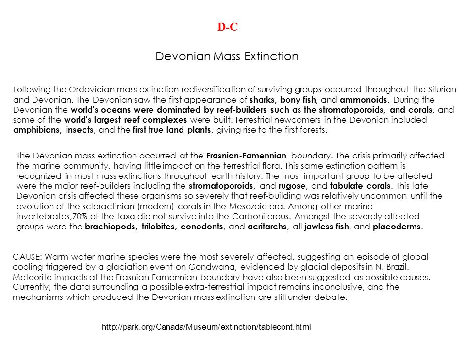 Devonian Mass Extinction