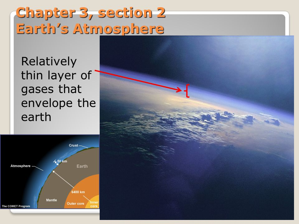 Chapter 3, section 2 Earth's Atmosphere