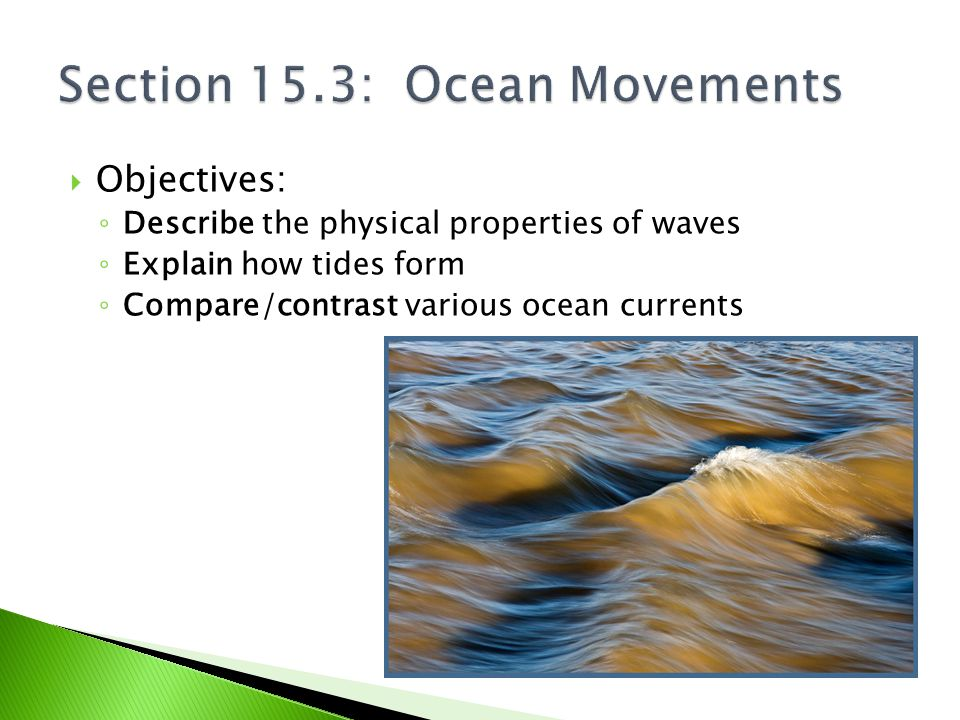 Section 15.3: Ocean Movements