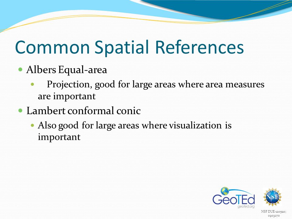 Common Spatial References