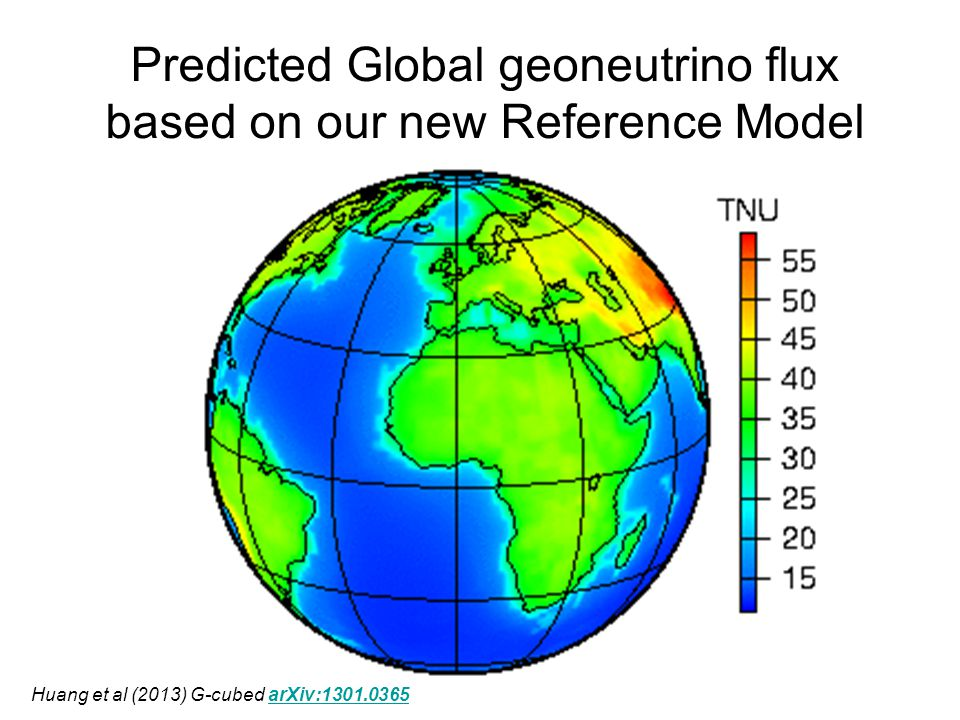 Predicted Global geoneutrino flux based on our new Reference Model