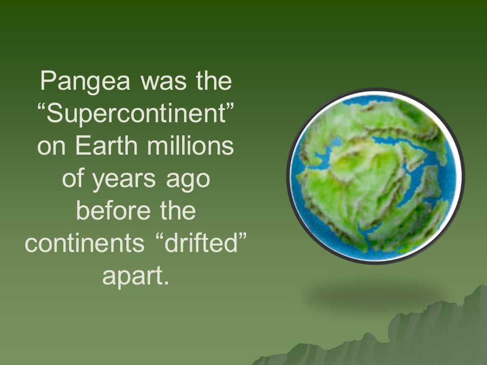 Pangea was the Supercontinent on Earth millions of years ago before the continents drifted apart.