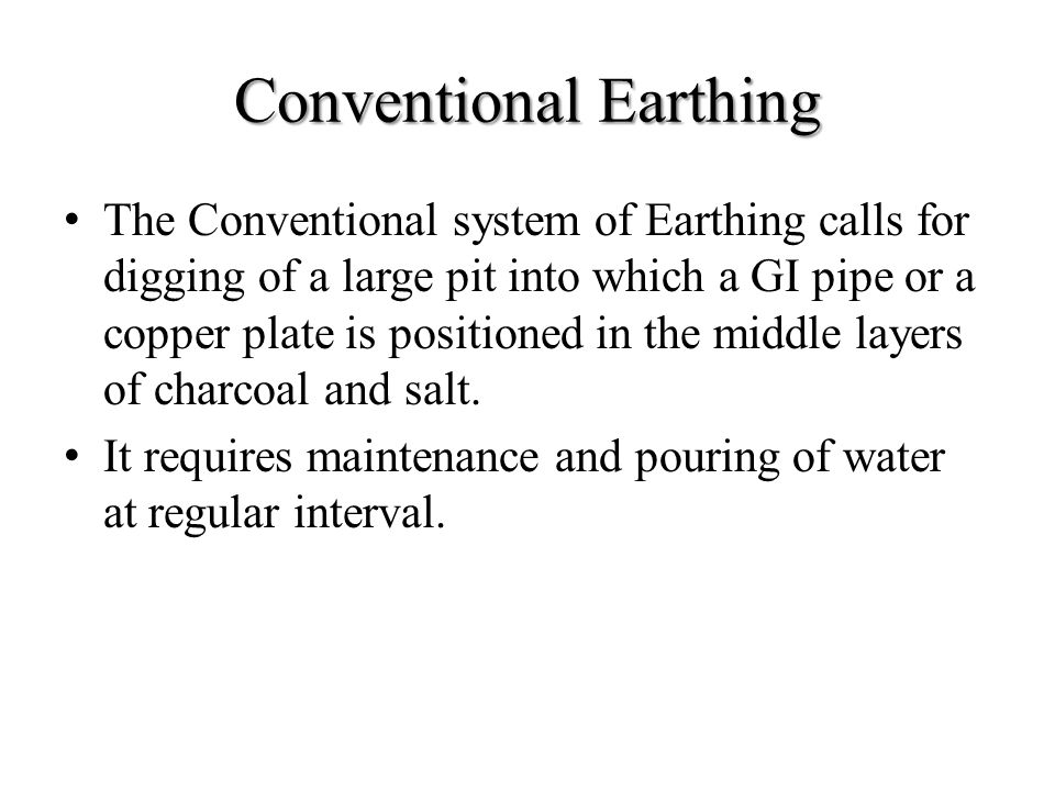Conventional Earthing
