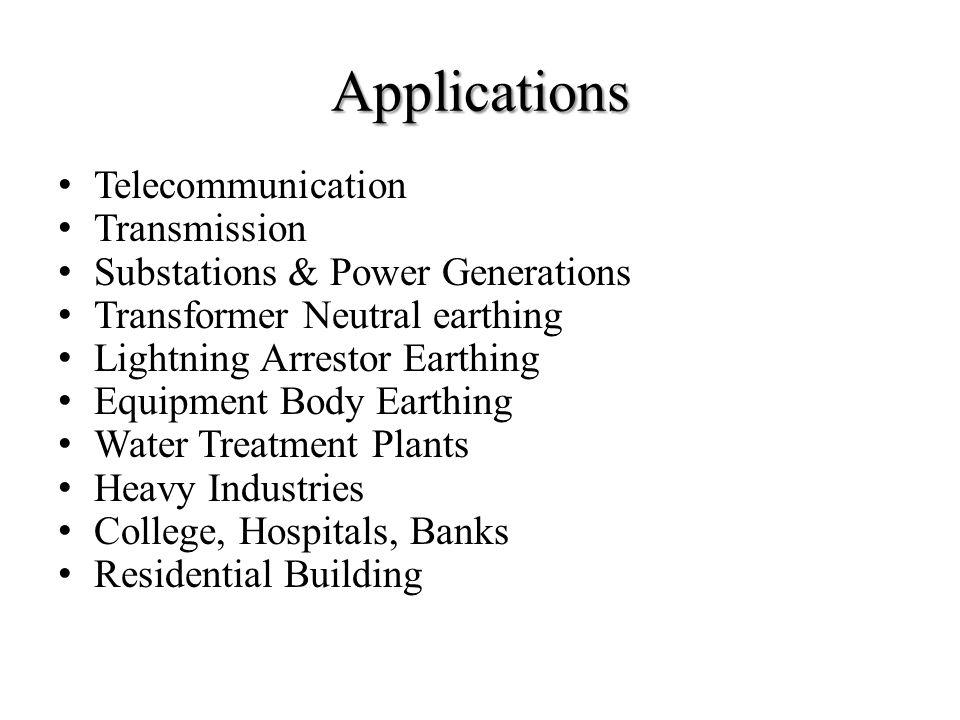 Applications Telecommunication Transmission