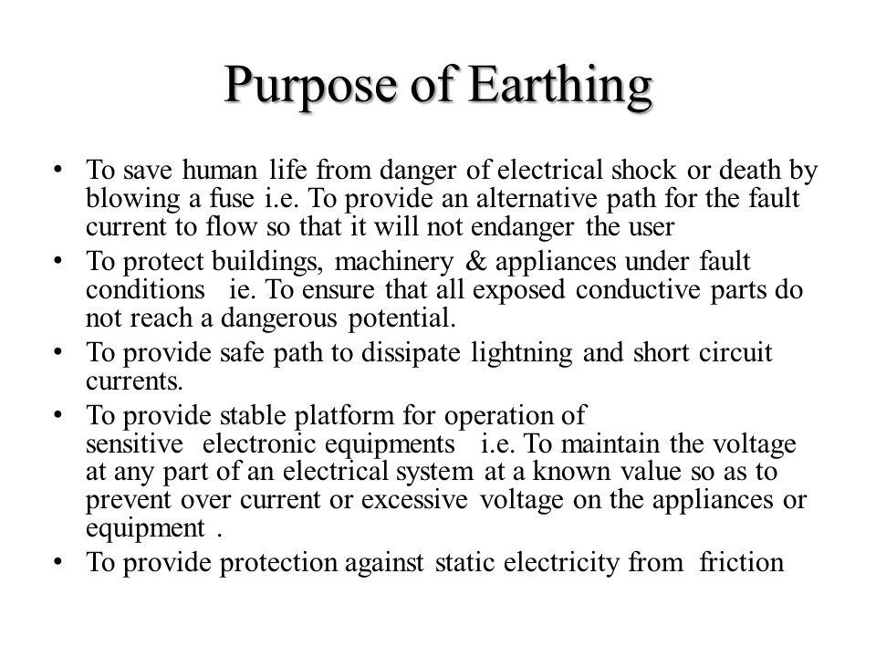 Purpose of Earthing